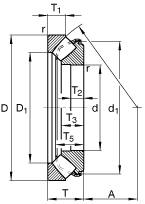 FAG Cuscinetto assiale orientabile a rulli a botte 29330-E, quote principali secondo DIN 728/ISO 104, azione unilaterale, smontabile