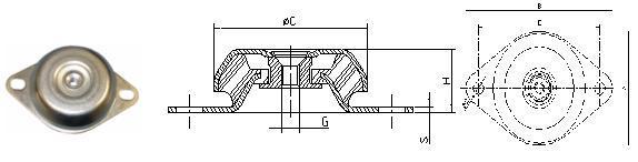 antivibrante compressori e pompe
